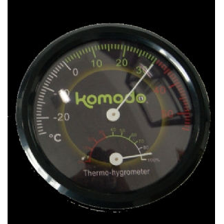 Analogue Dual Gauge Thermometer Hygrometer - Komodo